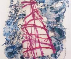 Pink ladder, blue water 72dpi for website