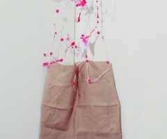 Pink trellis holding linen 72dpi for website